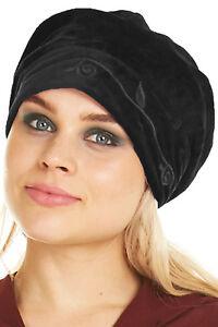 BEANIE HAT, SLOUCHY VELVET BERET, VELVET BEANIE, TAM HAT, PIXIE HAT, WOMEN'S HAT