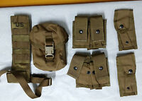 Lot of 6 each - USMC pouch, coyote brown, GENUINE U.S. MILITARY ISSUE #03