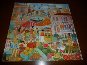 eeBoo Venice Open Market1000 Piece Jigsaw Puzzle Complete   2021
