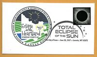 Eclipse of the Heartland. Kansas.  Total Solar Eclipse of the Sun. FDC