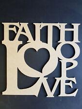 LASER CUT WALL ART - FAITH LOVE HOPE (DESIGN 2)