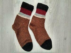 Socks sheepskin wool hand knit winter warm grandpa grandma nursing home gift