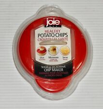Red Joie Healthy Microwave Potato Chip Maker & Slicer Cooker NEW SEALED