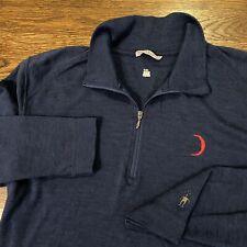 Smartwool Shirt Long Sleeve Merino Wool Navy 1/4 Zip Men's Large