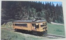 "California Western Railroad ""The Skunk"" M 100 Train Postcard"