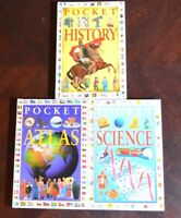 Lot 3 Pocket Guides Science HISTORY Atlas Like New Teacher Homeschool SHIPS FREE