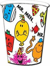 MR Men Party Bicchieri Per Bambini Compleanno Stoviglie confezione 8 Bicchieri di carta 9 Oz Nuovo Di Zecca