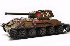 Handmade 1940 USSR T-34 TANK 1:12 Tinplate Antique Style Metal Model