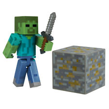 """Minecraft ~ Zombie 3"""" Action Figure Inc Accessories Series One"""