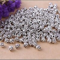 100pcs DIY Tibetan Silver Charms Spacer Beads Findings Making Jewelry
