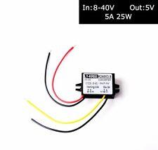 Car 12v-24v to 5v Step Down Hard Wired Converter Regulator 5A 25W Power Adapter