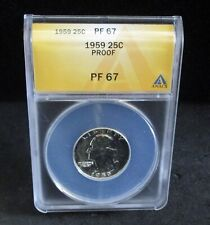 1959 Proof Washington Quarter - ANACS PF 67  - 5925   ENN COINS