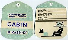 AEROFLOT AIRLINES ~Russia~ Old CABIN Luggage Tag, circa 1960's