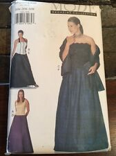 Vogue Mode Collection Pattern 7208 Womens Petite Top Skirt Shawl Plus Size 26-30