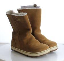 J4 MSRP $115 Women's Size 8 Sorel Glacy Brown Faux Fur Lined Waterproof Boots
