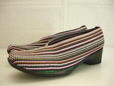 womens 9.5 10 26 San Miguel Mocasin Shoes elastic stretch wedge heel pump loafer