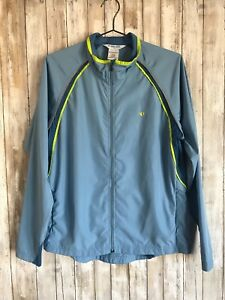 Pearl Izumi Women's Blue Infinity Biker Rider Zip Up Windbreaker Shell Jacket XL