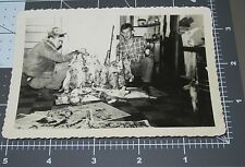 Odd PILE OF DEAD RABBITS Bunny Hunter Hunt Living Room Vintage Snapshot PHOTO