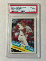 SHOHEI OHTANI 2018 Topps Heritage Now & Then RC SP INSERT! PSA MINT 9! ANGELS!