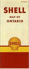 1952 Shell Road Map: Ontario (header) NOS