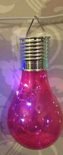 4 x Solar light Bulb Firefly Hanging Solar Powered Outdoor Garden Led Lights Red