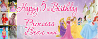 Disney Princesses  PERSONALISED PARTY BANNER Birthday, Christening -