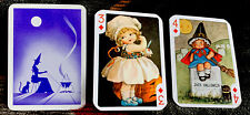 Fortune Telling Gypsy Witch Swap Cards 3 Halloween Trading Cards Girl Witch Nos