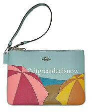 NEW Coach Gallery Pouch With Umbrella Motif Style 2367 Leather