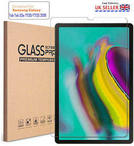 """Real Tempered Glass Clear Screen Protector for Samsung Tab S5e T720 10.5"""" (2019)"""