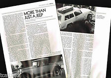 Old WILLYS / JEEP Auto / Car Article / Photo's / Pictures