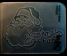 Sizzix Small Embossing Folder SANTA BABY CLAUS fits Cuttlebug, Big Shot & Wizard