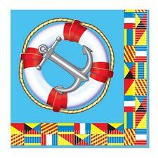 Nautical Theme Cruise Party Beverage Napkins Anchor Life Preserver CLOSEOUT