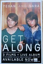 Tegan And Sara - GET ALONG Promo Poster [2011] - VG++