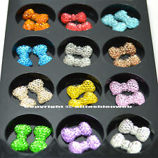 KLEANCOLOR 3D NAIL ART DECORATION BOW TIQUE TIE RHINESTONE PROFESSIONAL NA240