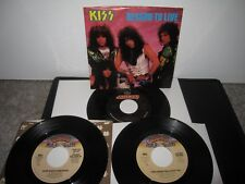 KISS I WAS MADE FOR LOVIN YOU REASON TO LIVE SURE KNOW 45 ALBUM LP 3 ITEMS