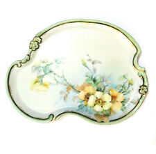 Limoges France Yellow Rose Plate FLG & Co 9x12.5 Hand Painted