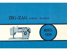 New listing Stradivaro 5600 Sewing Machine Instructions User Guide Manual & Diagram