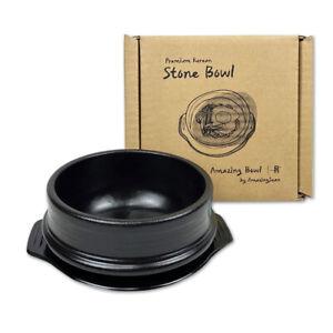 Amazing Bowl- Korean DOLSOT Stone Bowl with Trivet, Premium Ceramic Cooking Pot
