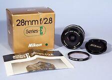 Nikon 28mm f/2.8 Prime Lens AI-s E * Tested & Working * Box & Mint Condition