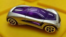 Rare Trc Silver Bullet - Silver and Purple * Diecast 1:64 * Hot Wheels * Open