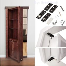 Hidden Door Hinges, Invisible for Cabinet Doors Murphy Secret Door Hinge System