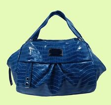 "MARC JACOBS ""Dr.Q-Remy Croc"" Blue Python Leather Satchel Shoulder Bag Msrp $358"