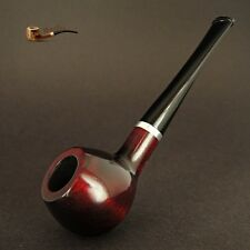 HAND MADE WOODEN TOBACCO SMOKING PIPE  no 33  Red  Dark PEAR + Filter