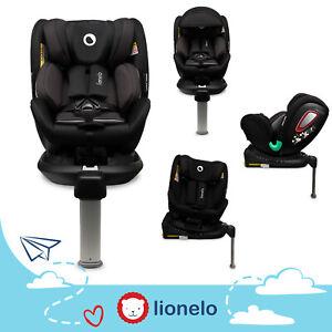 seggiolino auto Lionelo Antoon RWF ovetto da 0 a 18 kg Isofix 360 Dri Seat, Nero