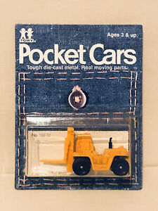 TOMY TOMICA 182 12 TOYOTA FORKLIFT TRUCK YELLOW COLOR RARE POCKET CARS