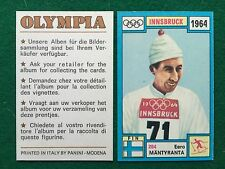 OLYMPIA 1972 n.284 MANTYRANTA FINLANDIA SCI , Figurina Sticker Panini (NEW)
