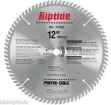 "Porter Cable 12922 12"" Riptide Miter Saw Blade NEW Chopsaw 80 Carbide Teeth"