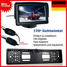 """Funk Rückfahrkamera 170° +Nummernschild+4,3"""" Bildschirm Monitor Rückfahrsystem"""