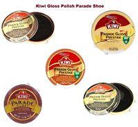 Kiwi Gloss Polish Parade Shoe Prestige Black, Brown, Neutral, Dark Tan Can 50ml