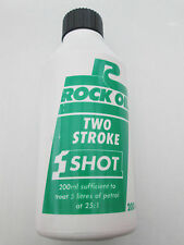 ROCK OIL 2-Stroke ONE SHOT for Lawn Mowers/Chain Saws, etc 200ml x 2 bottles
